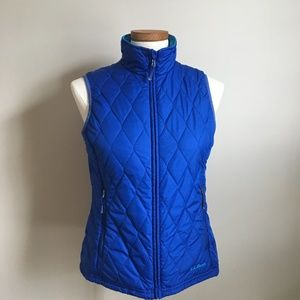 LL BEAN QUILTED REVERSIBLE LIGHTWEIGHT  VEST